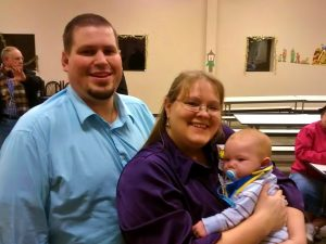 Glenn and Jeanna Gill with newly adopted Theron.